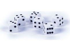 Teddies Bílé hrací kostky 6 ks 13 x 13 mm