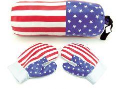 Teddies Boxovací pytel 40cm s rukavicemi