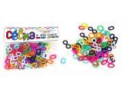 Teddies Céčka barevná - 100ks různé tvary