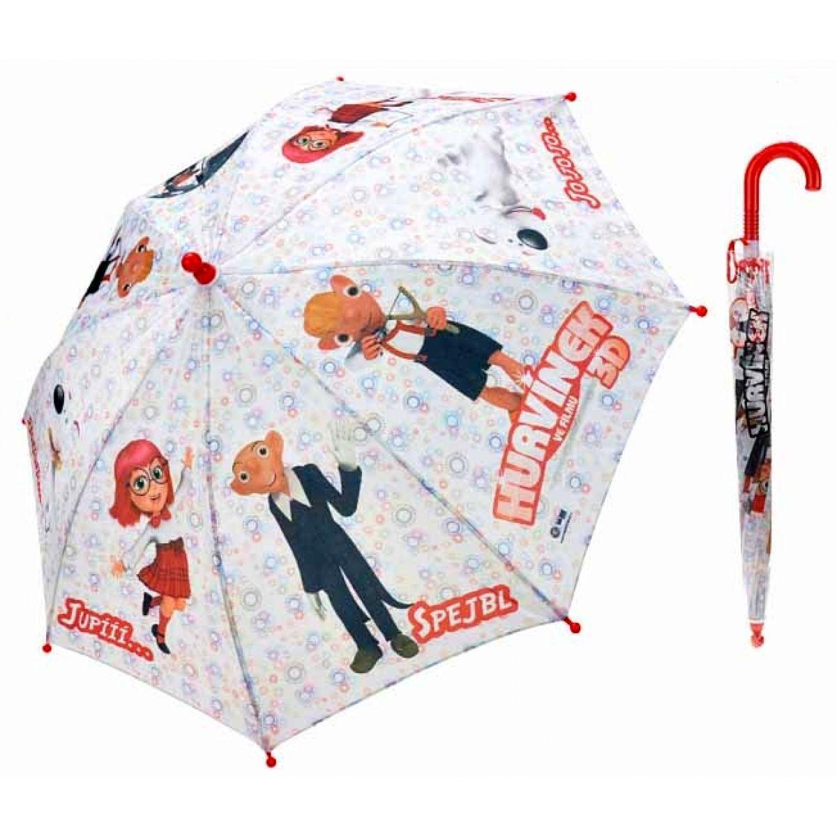 Teddies Deštník 3D I vystřelovací - Hurvínek