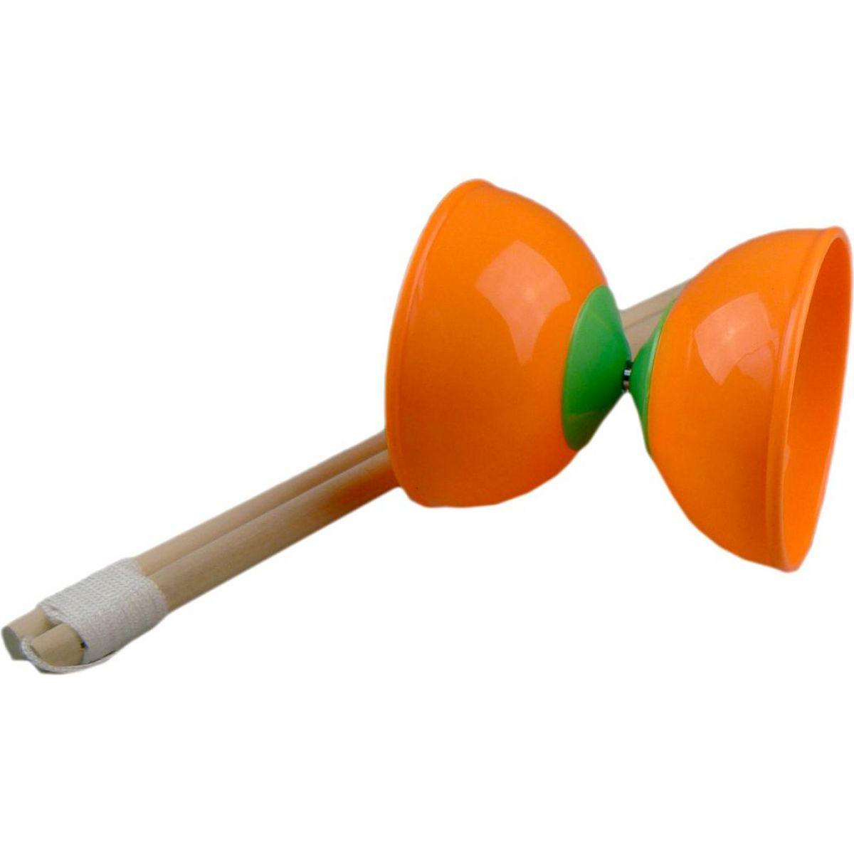 Teddies Diabolo 2 tyčky - Oranžová