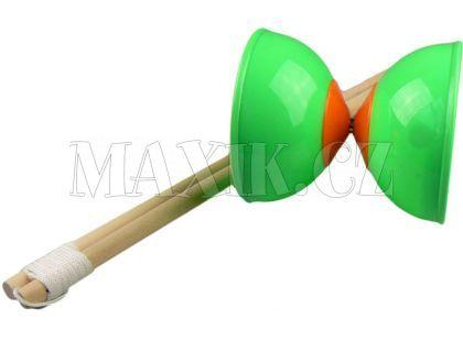 Teddies Diabolo 2 tyčky - Zelená
