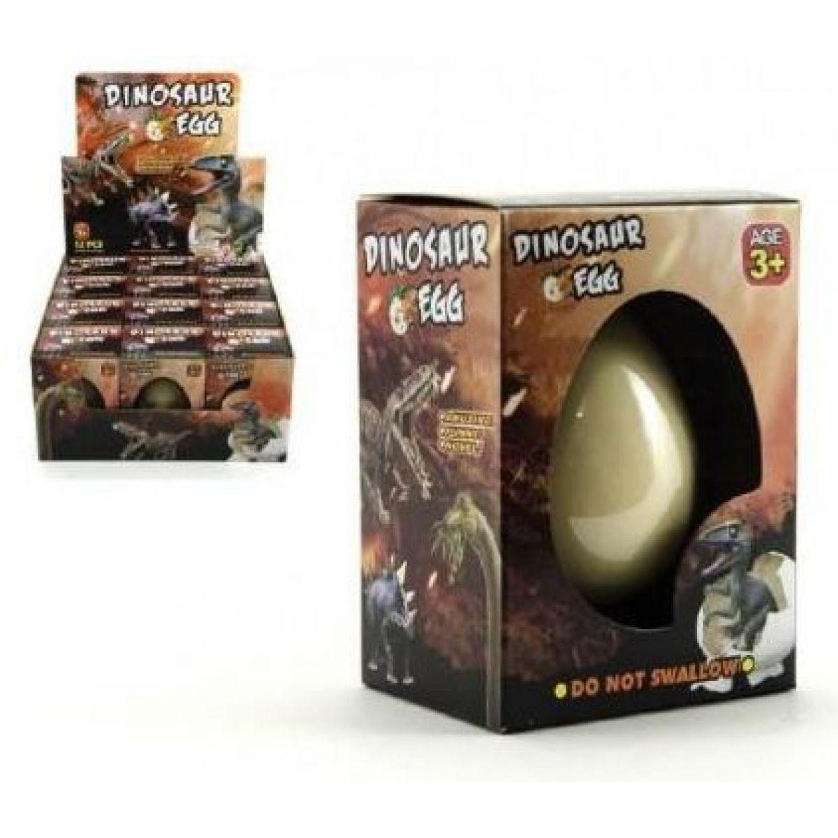 Teddies Dinosaurus líhnoucí a rostoucí z vajíčka v krabičce