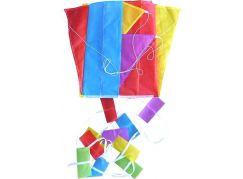 Teddies Drak létající nylon 88x81cm barevný červeno-modrý