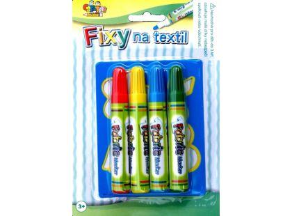 Teddies Fixy na textil 4ks + šablona
