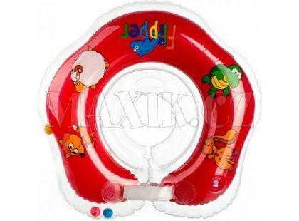 Teddies Flipper Plavací nákrčník červený