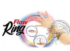 Teddies Flow Ring kovová spirála průměr 13 cm