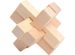 Teddies Hlavolam dřevo 7cm Kříž