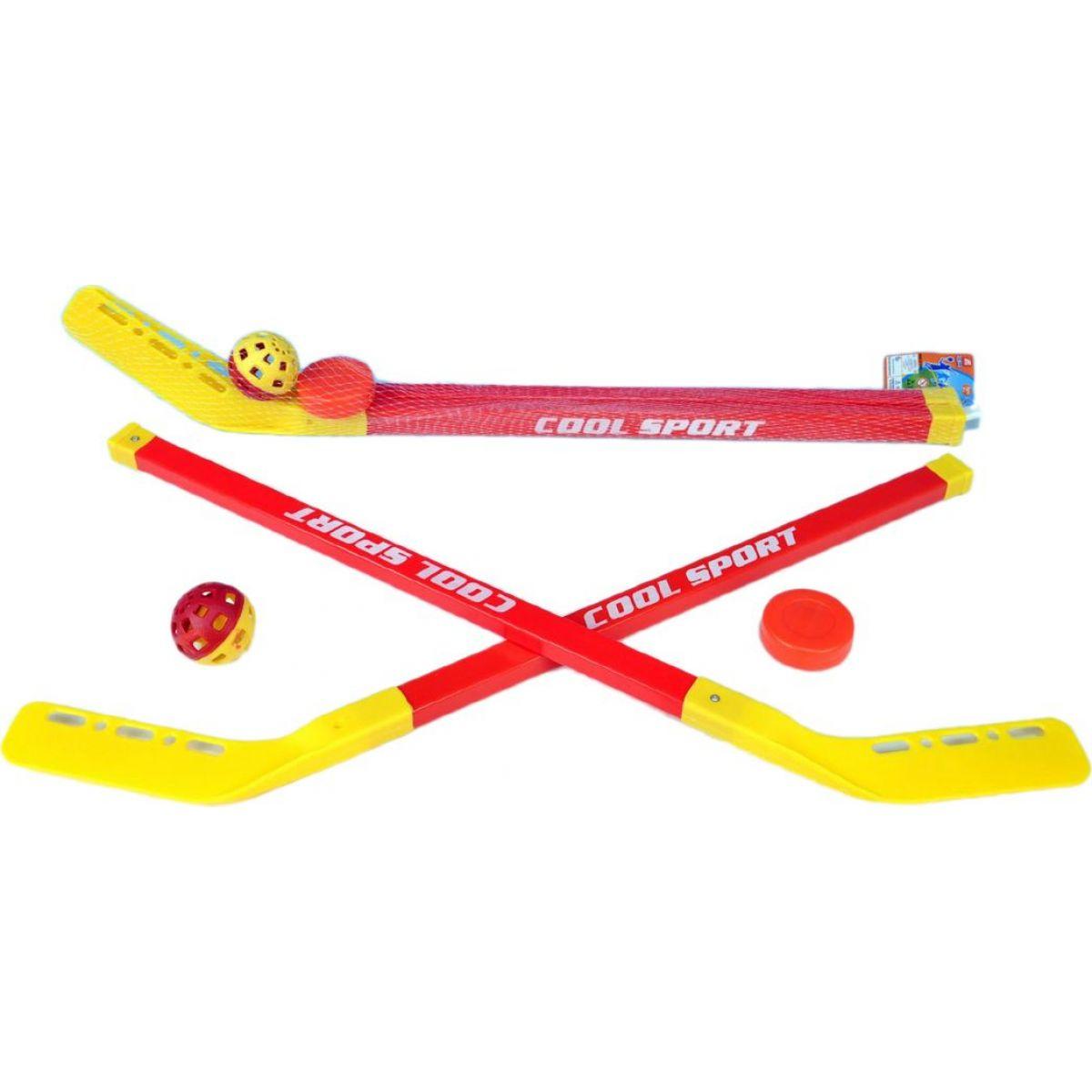 Teddies Hokejka s florbalovým míčkem a pukem