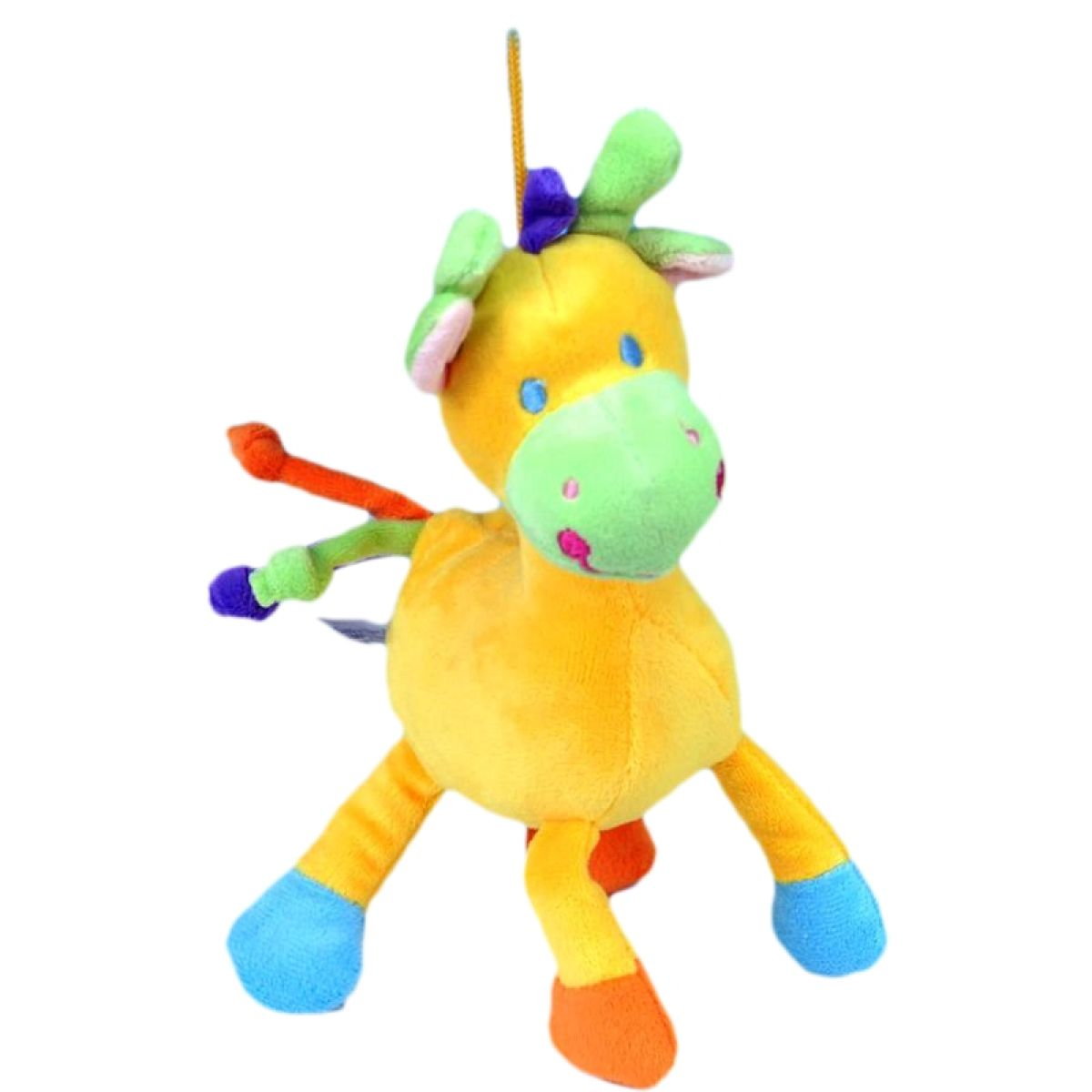 Teddies Žirafa chrastítko plyš 22cm - Žlutá