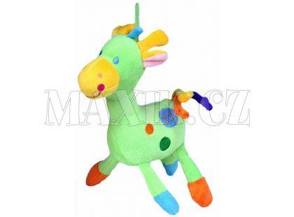Teddies Žirafa chrastítko plyš 22cm - Zelená