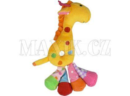 Teddies Žirafa chrastítko plyš 25cm - Žlutá