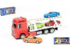 Teddies Kamion plastový se 4 autíčky