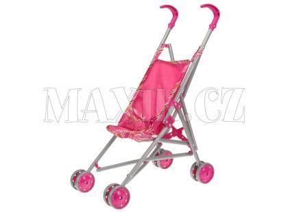 Teddies Kočárek - Stroller růžový
