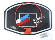Teddies Koš na basketbal 60x42cm Bílý nápis Street Ball