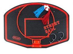Teddies Koš na basketbal 60x42cm Červený nápis Street Ball