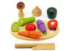 Teddies Krájecí ovoce a zelenina - dřevo