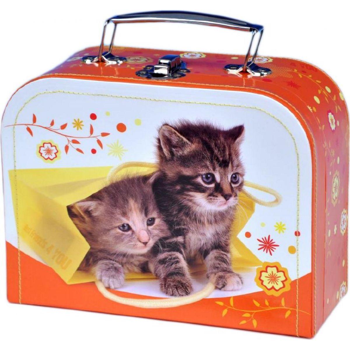 Teddies Kufřík šitý Koťata 20 cm