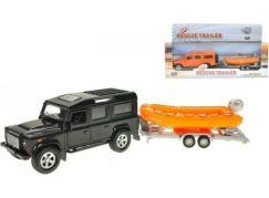Teddies Land Rover Defender kov 14 cm se člunem 12 cm