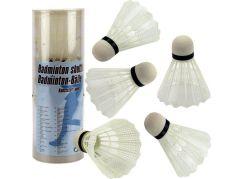 Teddies Míčky na badminton bílé plast 5 ks v tubě