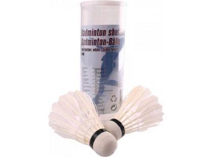 Teddies Míčky na badminton péřové 4 ks v tubě