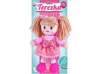 Teddies Mluvící panenka hadrová Terezka 30 cm