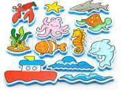 Teddies Moje první zvířátka Vodolepky Oceán 12ks