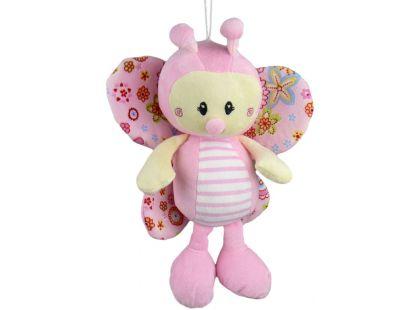 Teddies Motýl plyš 30cm - růžový