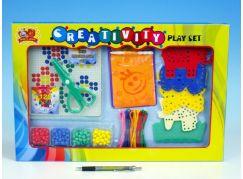 Teddies Mozaika kloboučková s šablonami a nůžkami v krabici 46x30,5x3cm