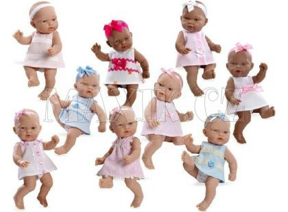 Teddies Panenka miminko vonící 26cm - Modré šaty