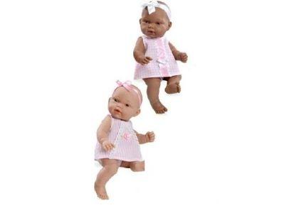 Teddies Panenka miminko vonící 26cm - Růžové šaty