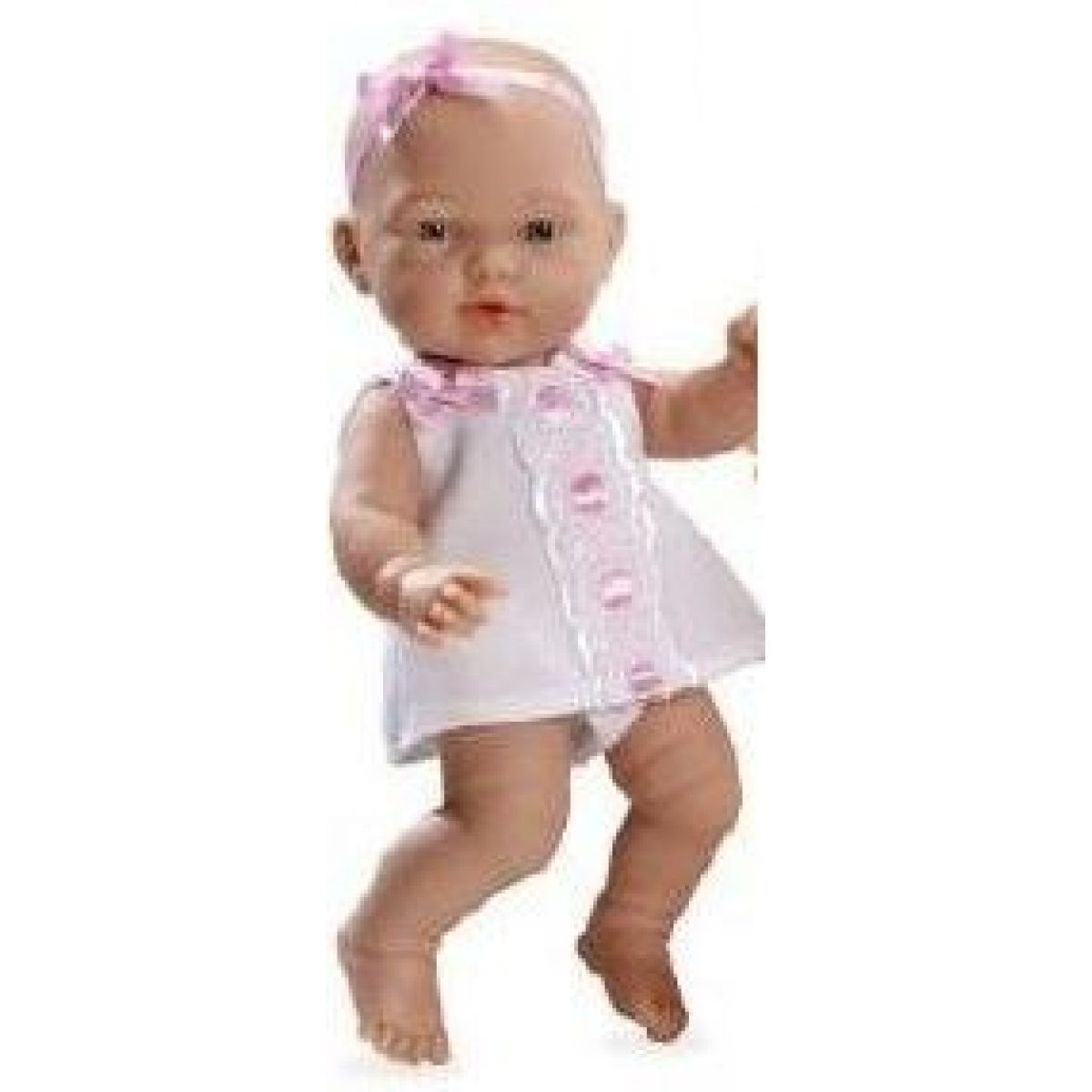 Teddies Panenka miminko vonící 26cm Bílé šaty