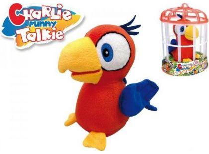 Teddies Papoušek Charlie opakující slova