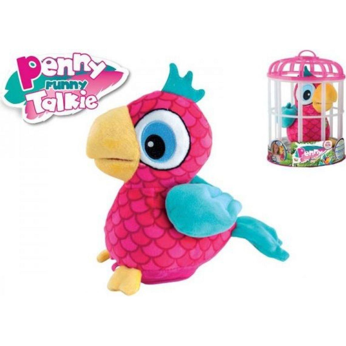 Teddies Papoušek Penny opakující slova