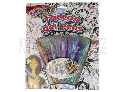 Teddies Pero tetovací 5ks + šablony na kartě