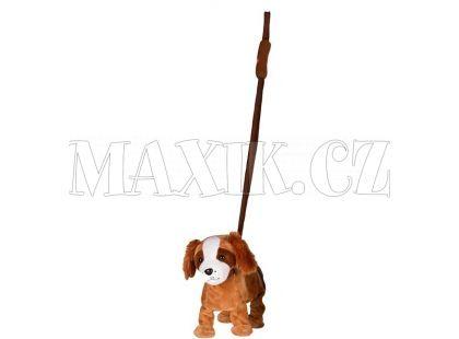 Teddies Pes na tyčce 25cm - Hnědý bígl