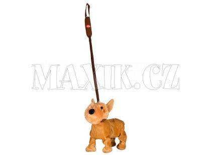 Teddies Pes na tyčce 25cm - Hnědý foxteriér