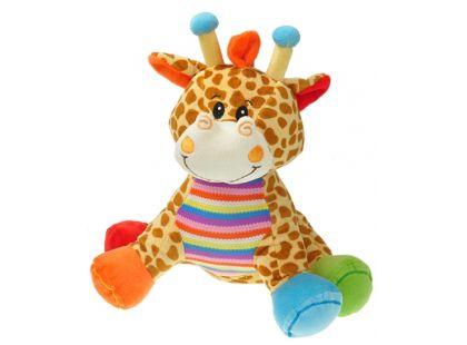 Teddies Plyšové zvířátko sedící 28cm - Žirafa