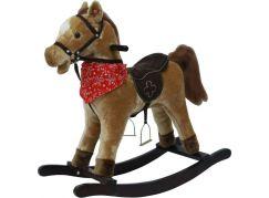 Teddies Plyšový houpací kůň na baterie se zvuky