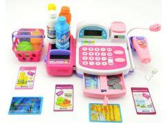 Teddies Pokladna digitální s nákupními doplňky