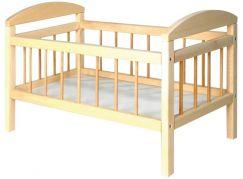 Teddies Postýlka dřevěná velká 58,5 x 33 x 37,5 cm