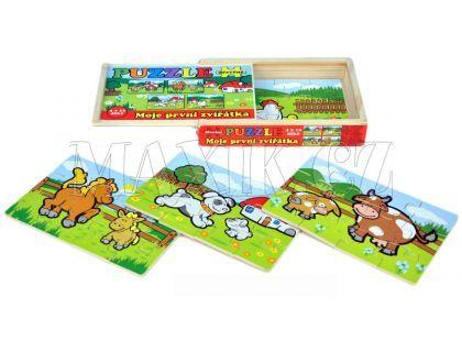 Teddies Puzzle dřevěné - Moje první zvířátka