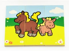 Teddies Puzzle dřevěné - Moje první zvířátka 18 dílků