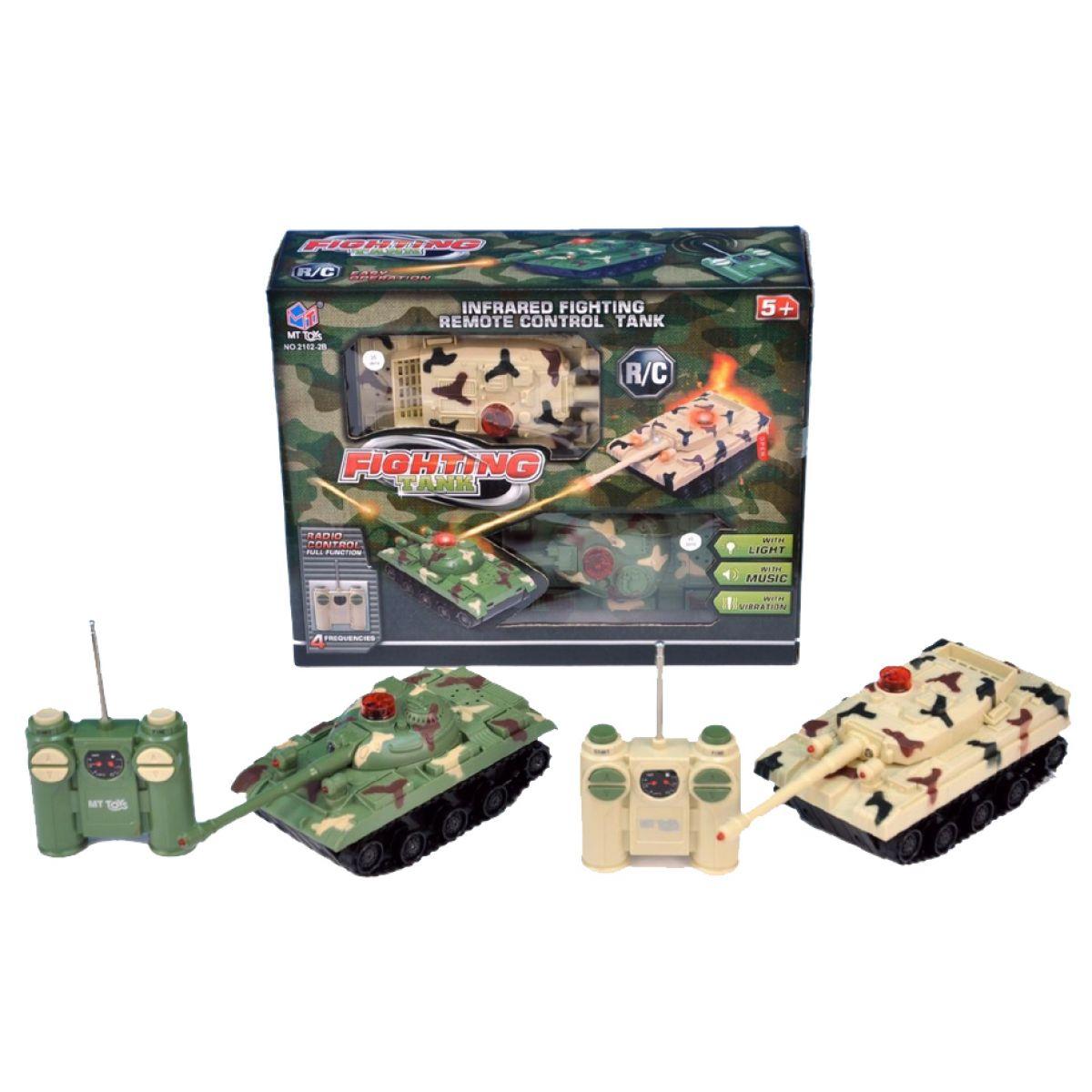 Teddies RC Tank se zvuky a světly - 2ks