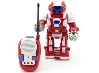 Teddies Robot na dálkové ovládání se světlem a zvukem - Červený
