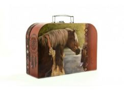 Teddies Šitý Kufřík kůň s dívkou 30 cm