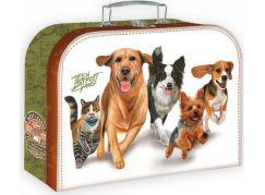 Teddies Školní kufřík 35 cm běžící zvířata