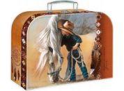Teddies Školní kufřík 35 cm malý kovboj a kůň