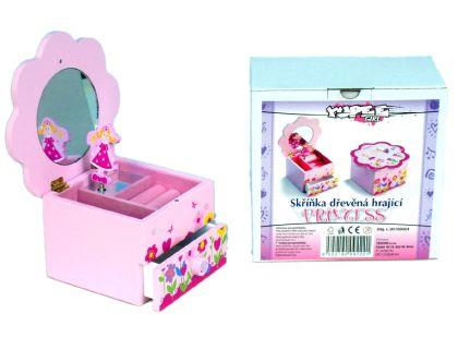 Teddies Skříňka květina hrající - Princess