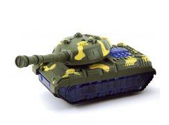 Teddies Tank narážecí plastový 20 cm Tmavě zelený maskáč